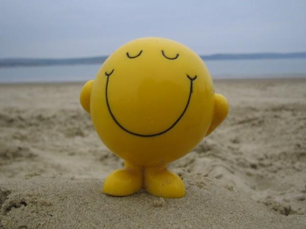 mr happy smile mr men beach