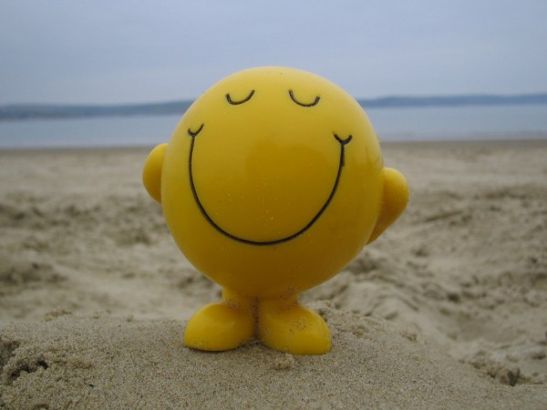 mr happy smile mr men beach