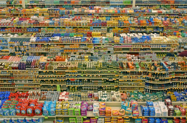 retail aisles shelves consumer products