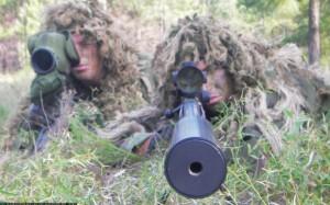 sniper gun barrel camouflage combat