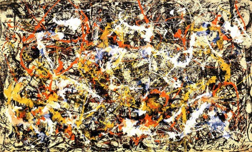 Jackson Pollock convergence art canvas