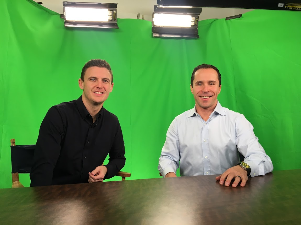 David Lowe Kevin Allen My Startup Live TV show green screen.jpg